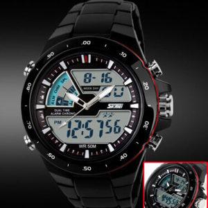 Men Sports Watches Waterproof Fashion Casual Quartz Watch Digital & Analog Military Multifunctional Mens Sports Watches