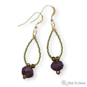 Grape De Vine Drop Earrings