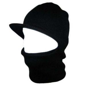 Black Unisex Winter Hooded Visor Face Ski Mask