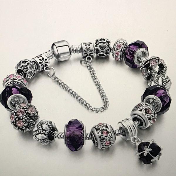 925 sterling silver Women Charm bracelet