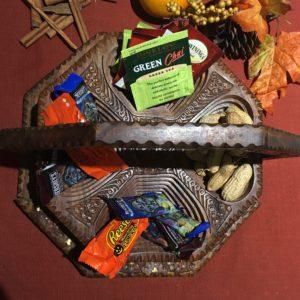 Handcrafted Wood Nut Basket Handmade Foldable Dry Fruit Nut Basket Handmade Wooden Basket