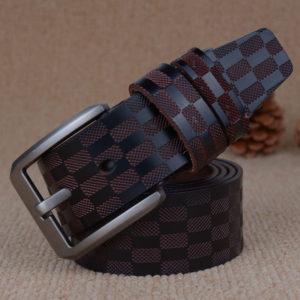 "Men 36"" Waist Size Fashion Genuine Leather Belt Box Patterned"