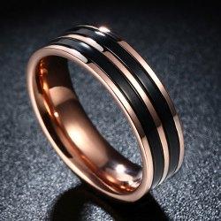 Men Titanium Steel Circle Ring Size 9