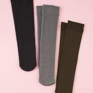 Women Boot Socks 3 Pairs Fleece Lined Warm Boot Socks