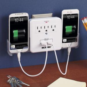 Outlet USB Port Cradle Phone Cradle