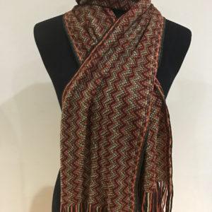 Zig-Zag Acrylic Knit Scarf