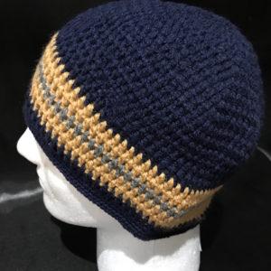 Men Custom Handmade Knitted Winter Hats Never Machine Made