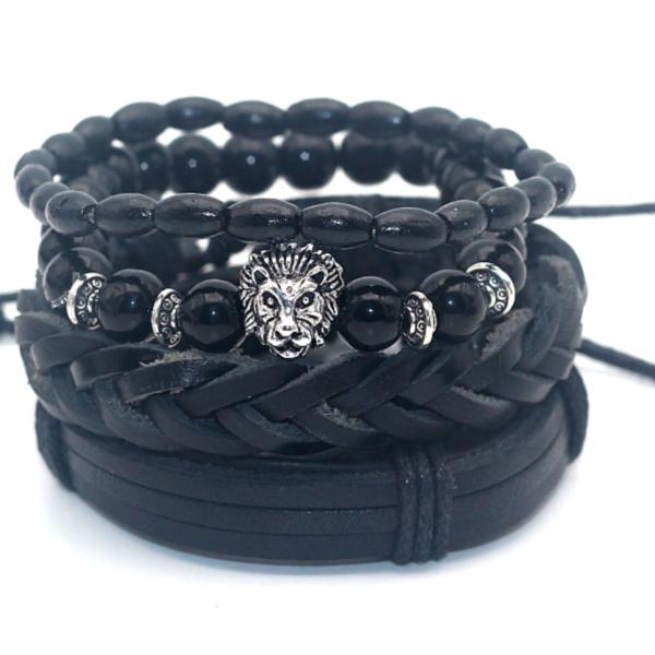 men bracelets, men bracelet sets, men genuine leather bracelets, onyx bracelets, bamboo bracelets, men onyx bracelets