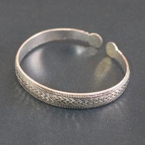 Vintage Style W design Handmade Cuff Bangle Bracelet