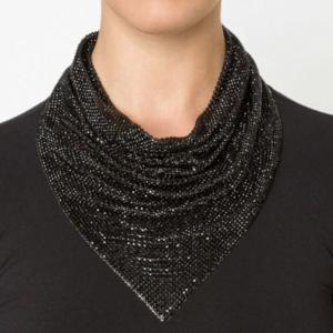 Ladies Fashion Statement Necklace Trendy Metal Dazzling Choker Necklace