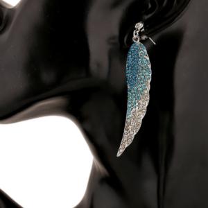 European Fashion Full Crystal Angel Wings Earrings
