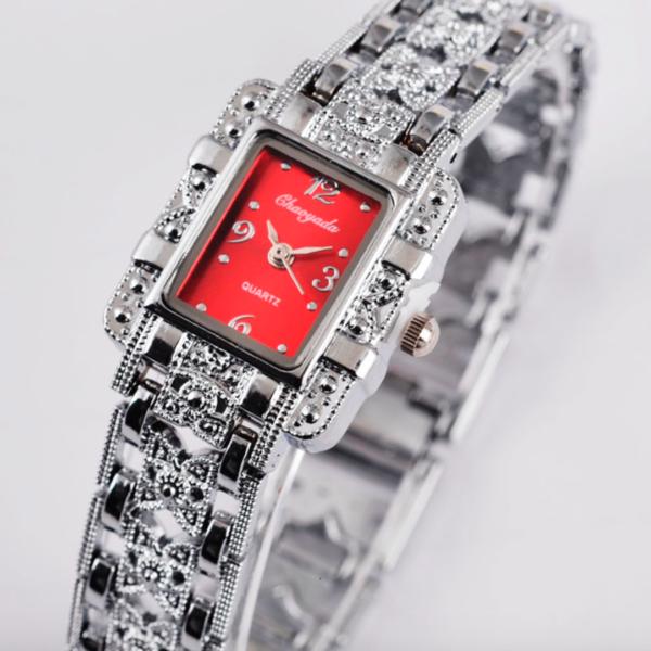 ladies red luxury watch
