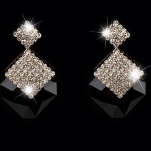 Dazzling Rhinestone Earrings Large Crystal Fashion Drop Earrings Earrings