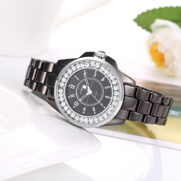 black snobi luxury women watch