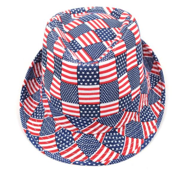 summer cool hats, USA fedora hats, USA flag fedoras, flag hats