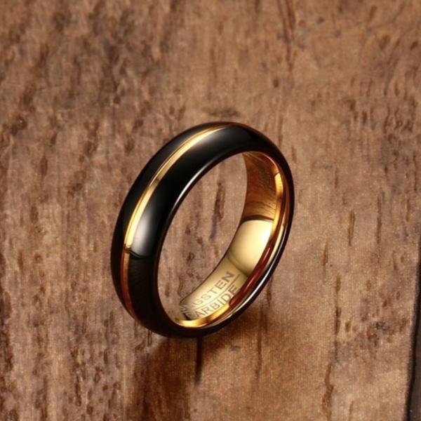 tungsten carbide rings, 6mm tungsten rings, 14k gold tungsten rings, men tungsten rings