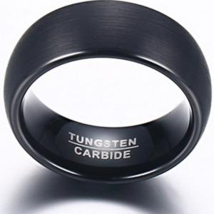 Brushed Tungsten Carbide Men Women Wedding Band Comfort Fit sizes 9, 10
