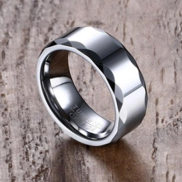 tungsten steel wedding band 8mm, men wedding bad 8mm