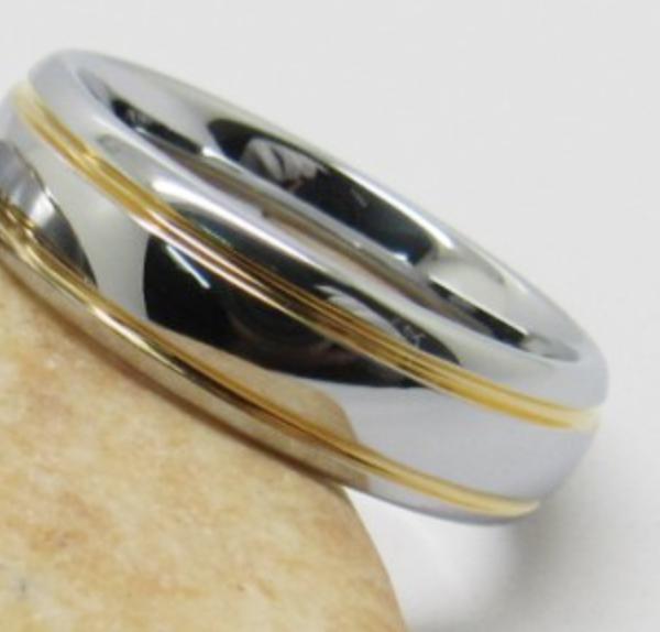 tungsten steel 6mm men wedding rings