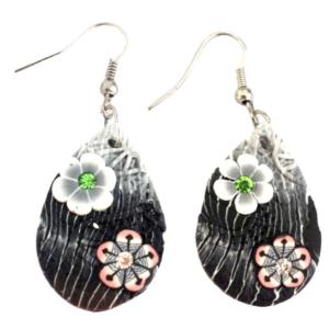 Handmade Bohemian Fimo Flower Summer Earrings