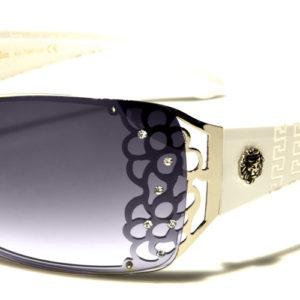 New Kleo Rhinestone Shield Women's Sunglasses 100% UV 400 Protection