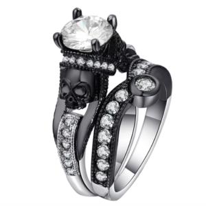 Women Zirconia Stones Stylish Skelton Modern Women Luxury Ring Set