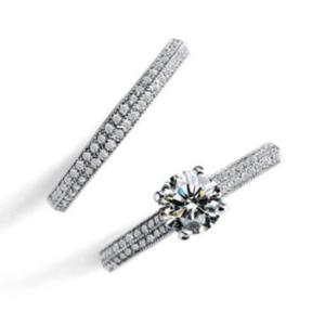 Women Wedding Ring Set Round Zirconia Stone Luxury Ring Set